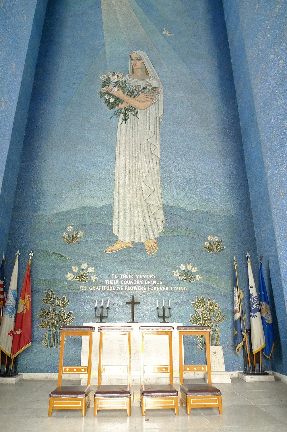 Interior of the chapel  (Photo by John Silva)