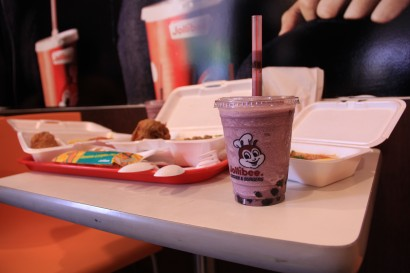 Jollibee serves purple yam flavored milkshakes. (Photo by Aurora Almendral)
