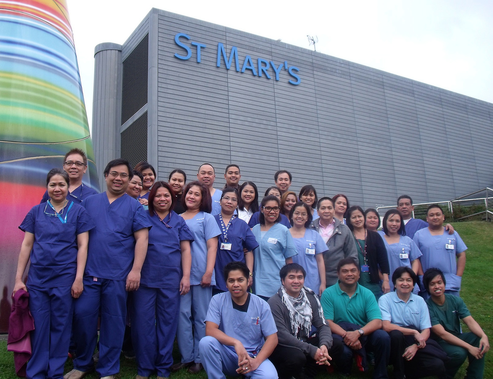 Filipino nurses were brought into England's National Health Service to alleviate staff shortages.  (Source: iow.nhs.uk)