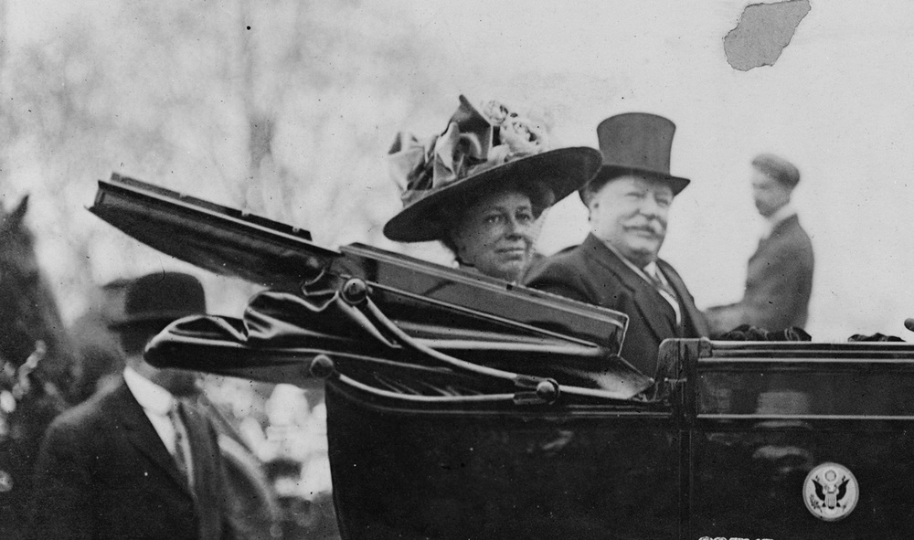 President and Mrs. William Howard Taft (Photo by Barnett M. Clinedinst, U.S. Library of Congress)