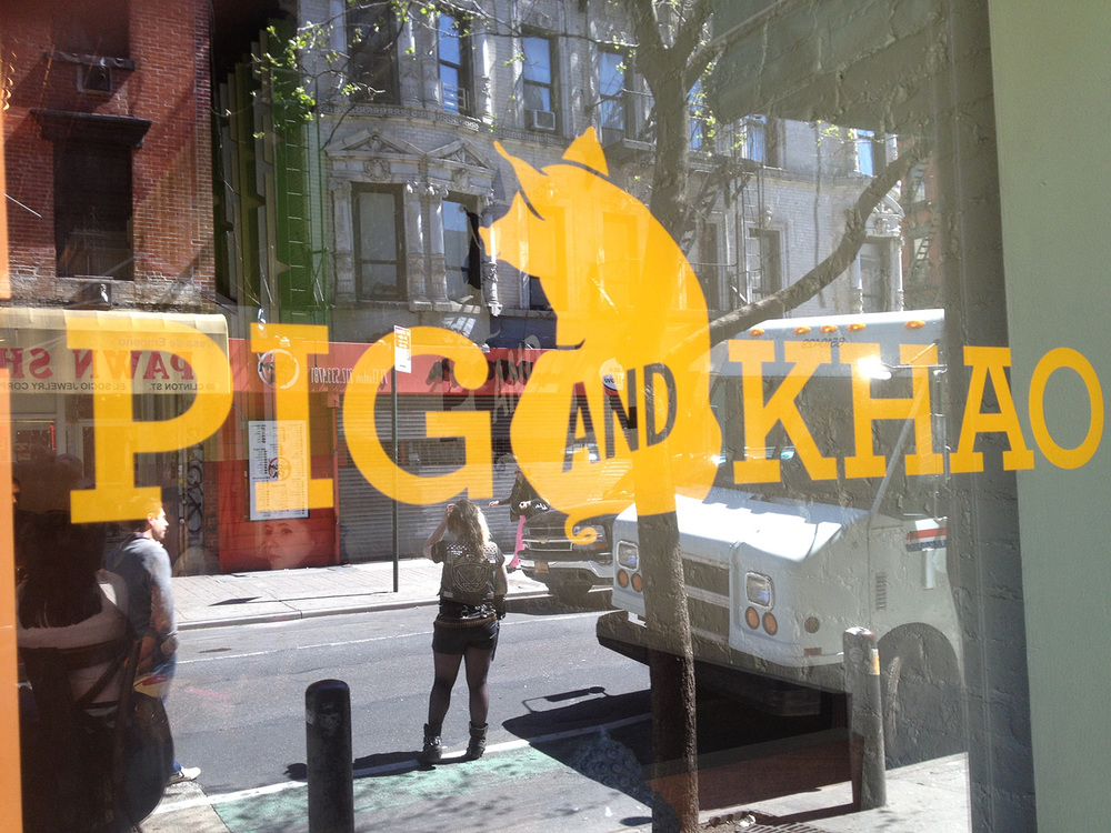 Pig and Khao in New York's Lower East Side. (Photo by Elizabeth Ann Quirino)