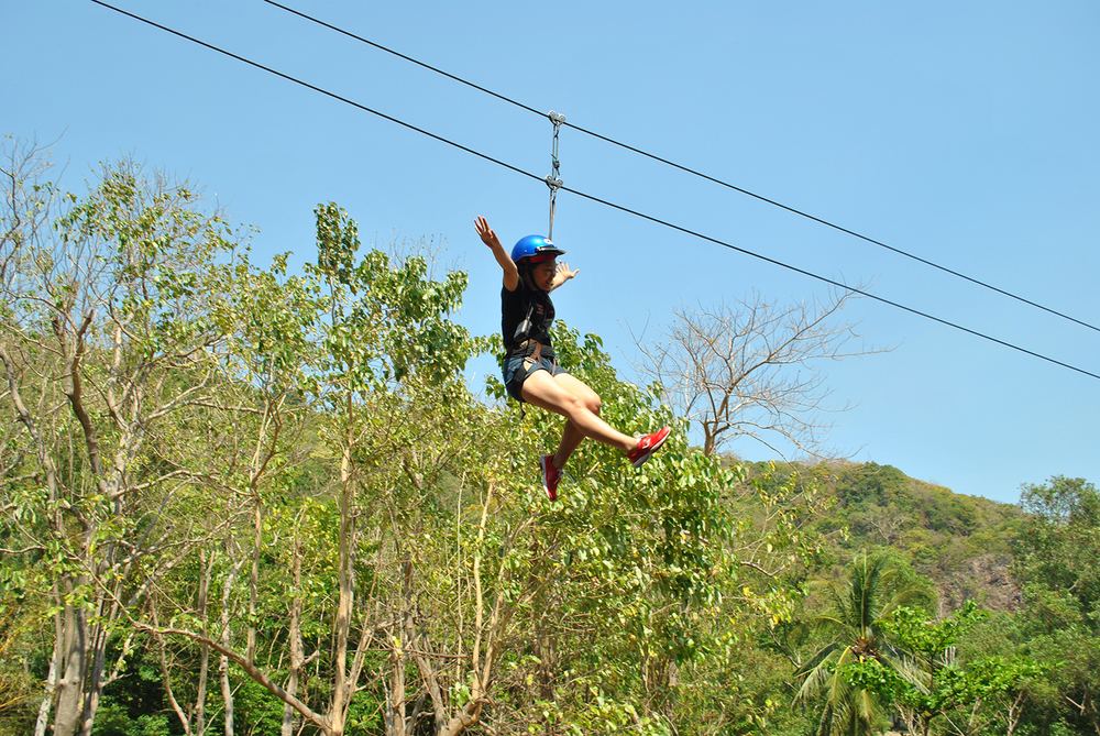 Gliding through the ROCKet Zipline  (Photo by Bernard L. Supetran)
