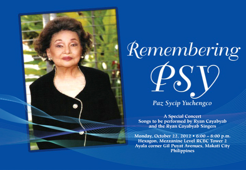 Paz Sycip Yuchengco  (Photo courtesy of the Yuchengco family)