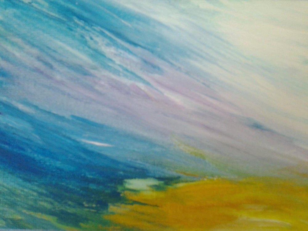 Art Response: Grief released through chalk pastels and watercolor