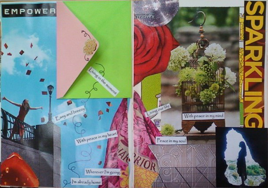 Art Response: Using collage images as visual affirmations