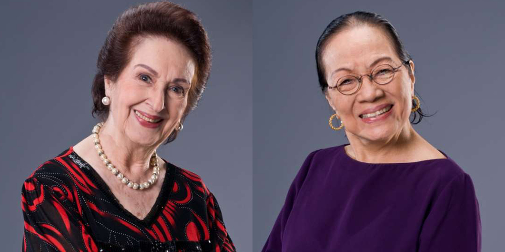 Gloria Romero (left) and Caridad Sanchez (Source: showbiz-portal.com)