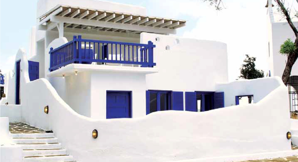 Doppelgangers: The Mykonos Village calls to mind the picturesque island of Mykonos, one of the world's best known islands.  (Source: Mabuhay Magazine)