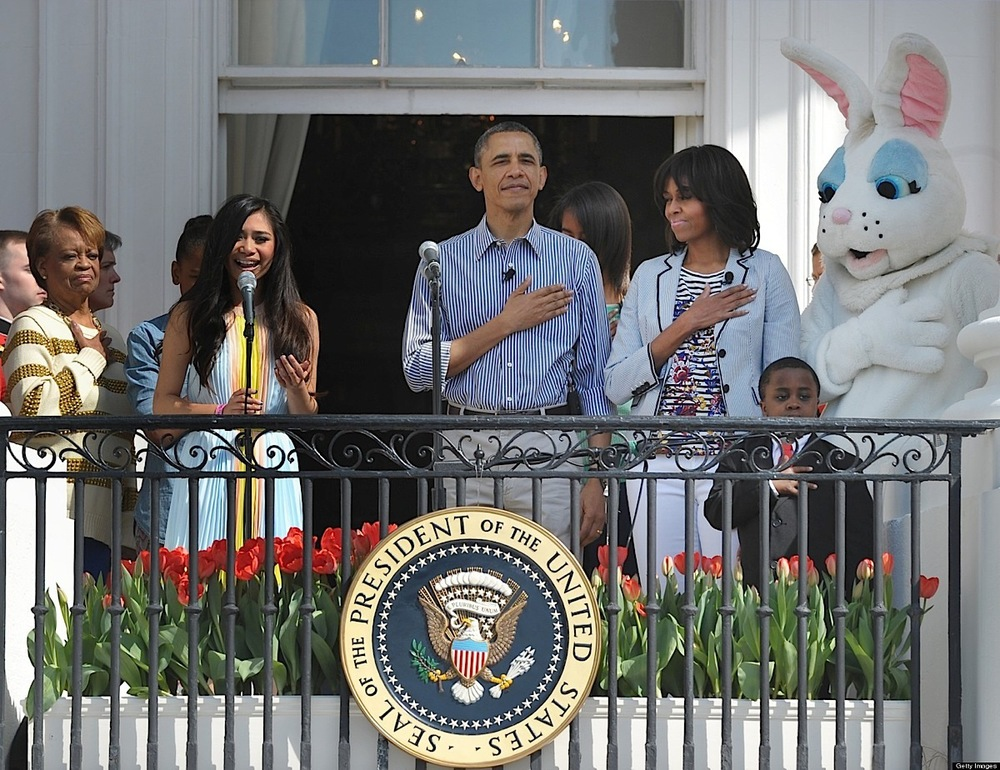 Jessica Sanchez sings at the 2013 White House Easter Egg Roll. (Source: Huffington Post)