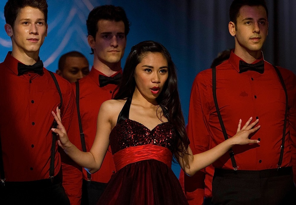 Jessica Sanchez appears on Glee's season finale. (Source: Adam Rose/FOX)