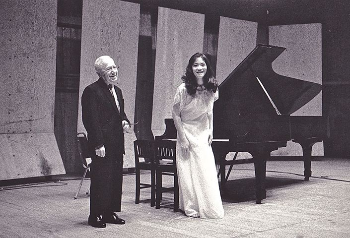 Cecile Licad with one of her famous teachers, piano icon Mieczyslaw Horszowski.