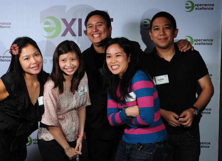 Exist Global staffers  (from left):  Ida Ortiz, Marketing Associate Mich De Castro, Co-founder Junnie Arreza, Director of Marketing Macel Legaspi, and from Healthcare Services Alain Yap