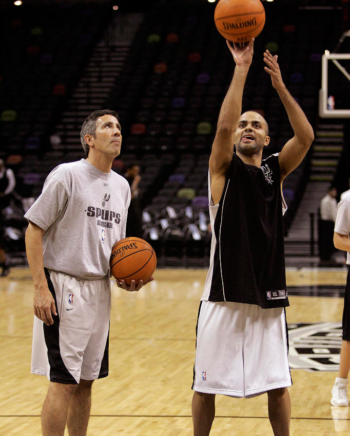 Chip Engelland training San Antonio Spurs point guard Tony Parker  (Source: mysanantonio.com)
