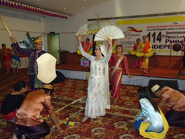 The Singkil Dance during last year's Independence Day celebration held at the Lakeshore Hotel  (Photo courtesy of Hector Soliman)