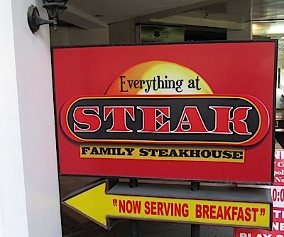 Everything at Steak  (Photo by Dedette Sison-Santiago)