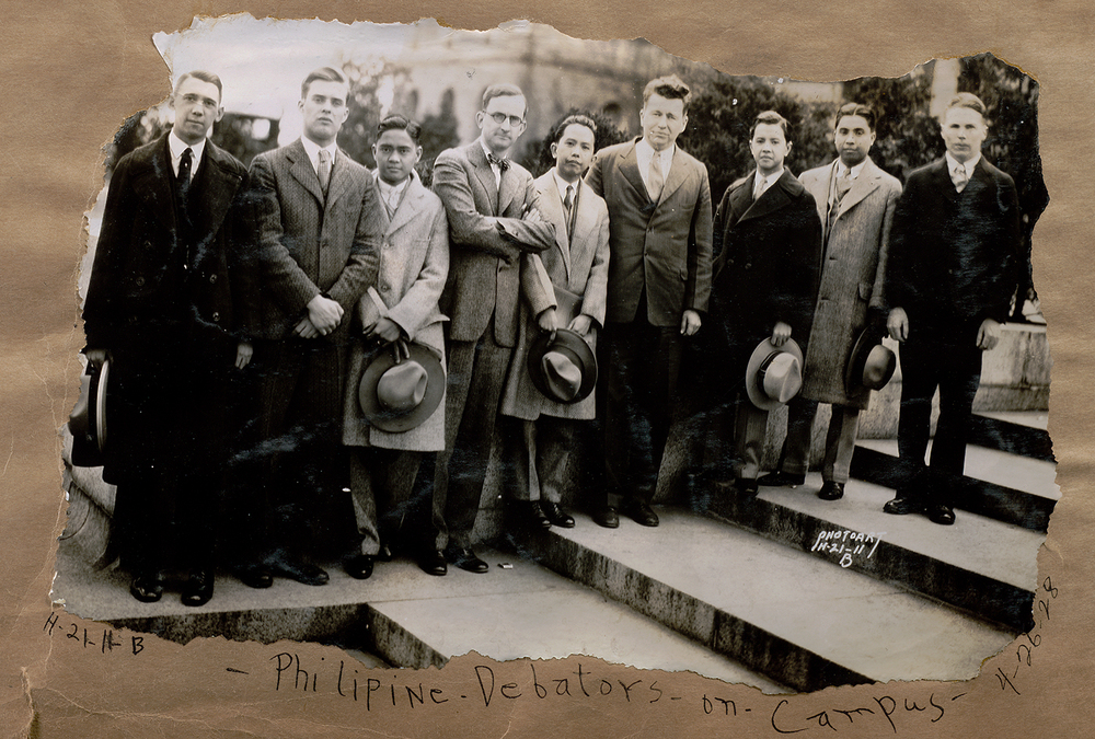 On April 26, 1928, the Philippine debate team arrived at the University of Wisconsin. (Photo courtesy of the Romulo family)