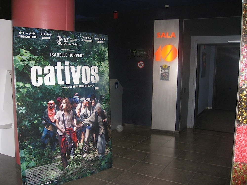"Theater room number 10 at UCI Cinemas in Lisbon, where ""Captive"" was shown.  (Photo by Tiago Villanueva)"