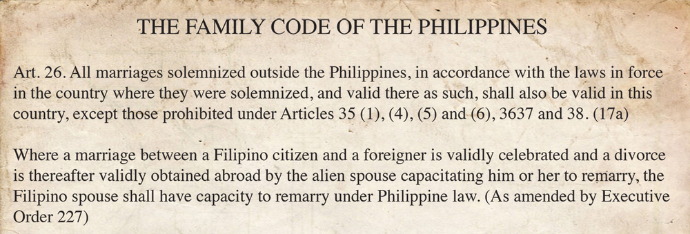 Article 26 of the Family Code of the Philippines