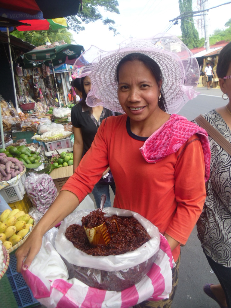Bucayo vendor was giving free samples at Pangasinan Manaoag Shrine (Photo by Elizabeth Ann Quirino)