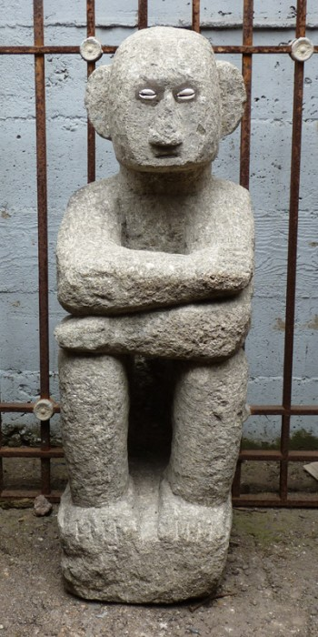 "A stone ""Bulol"" (Ifugao Rice God)  (Photo copyright © the Richard Gervais Collection)"