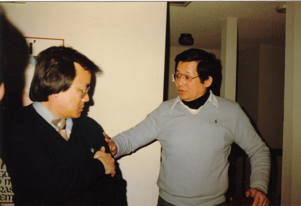 Aquino meeting up with Kashiwahara in San Francisco, 1981 (Photo courtesy of Ken and Lupita Kashiwahara)