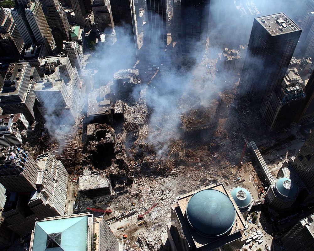 Ground Zero: site of the fallen World Trade Center (Source: Wikimedia Commons)