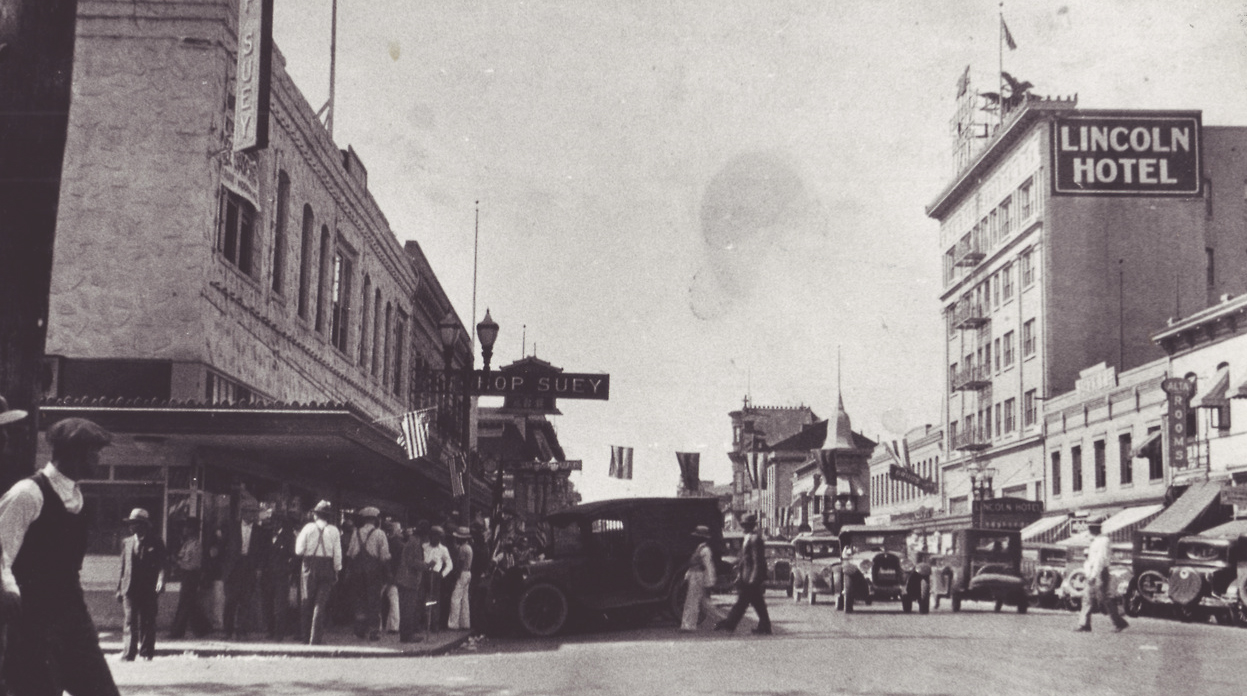Stockton's Little Manila, late 1920s  (Photo by Frank Manaco, courtesy of the Filipino American National Historical Society)
