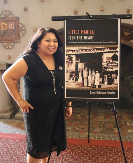 Author Dawn Buholano Mabalon at her book launch in Stockton, California (Photo courtesy of Dawn Buholano Mabalon)