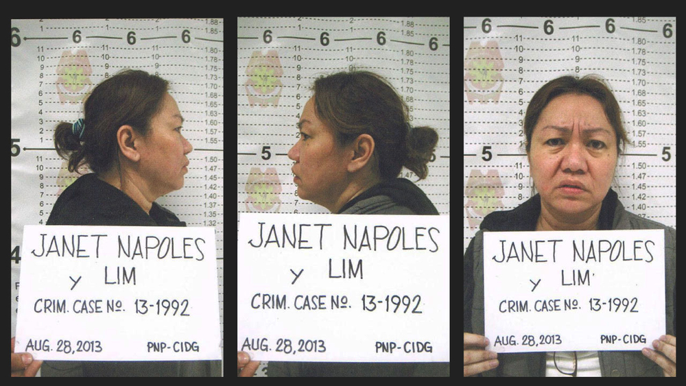 Janet Lim-Napoles' mugshot (Source: Philippine National Police)