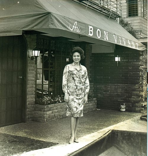 Nora Daza at Au Bon Vivant, the first French restaurant in the Philippines  (Source: facebook.com)