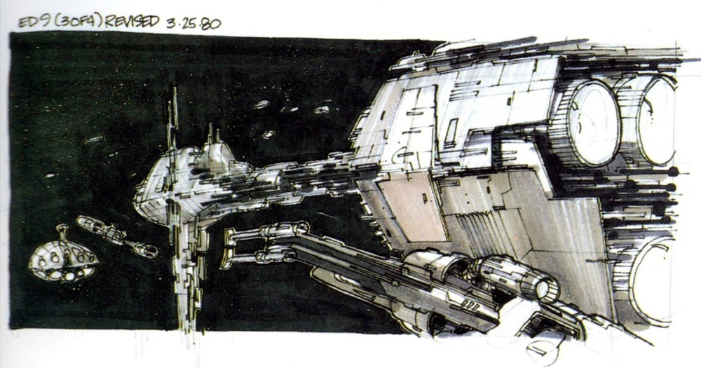 Nilo Rodis Jamero's storyboard work in the Empire Strikes Back (Source: The Empire Strikes Back Sketchbook)