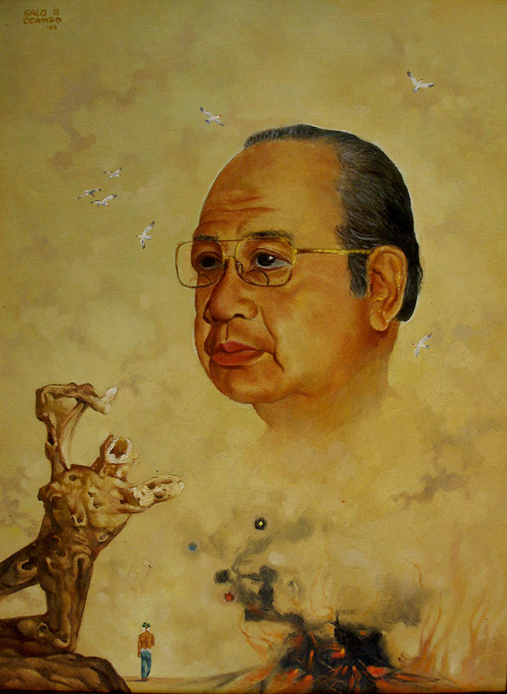 Galo Ocampo's self-portrait (Photo courtesy of Mitch and Dennis Ocampo)