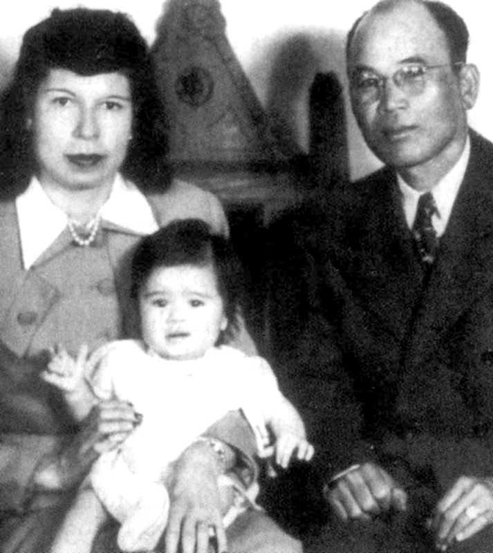 Alejo Filomeno and Jessie Chaverria (with daughter Mary Ester) had to go to New Mexico to get married.  (Source: Mary Ester Filomeno Collection, FAX-RP, San Francisco)