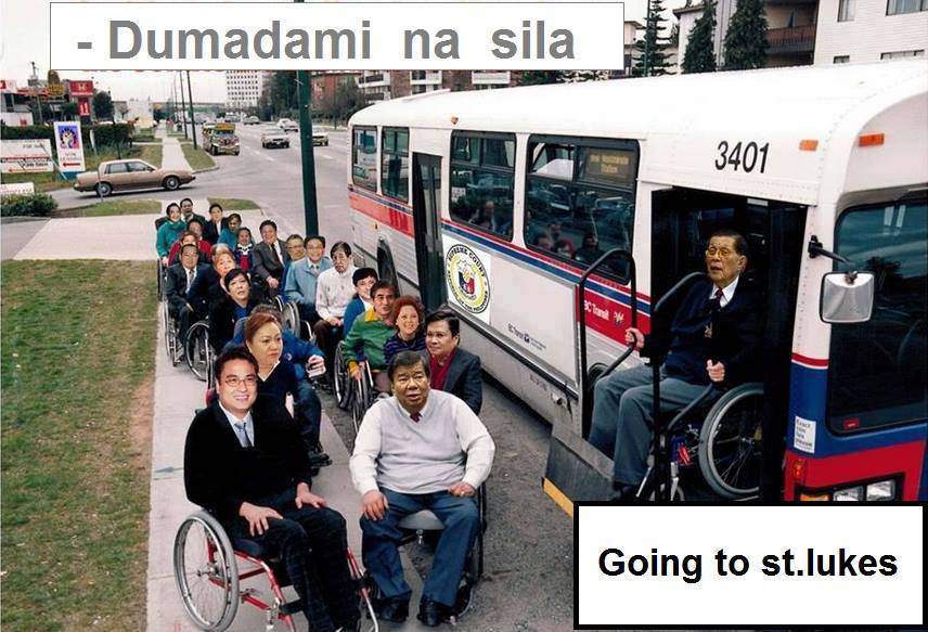 When implicated in a political scandal, just get on a wheelchair!