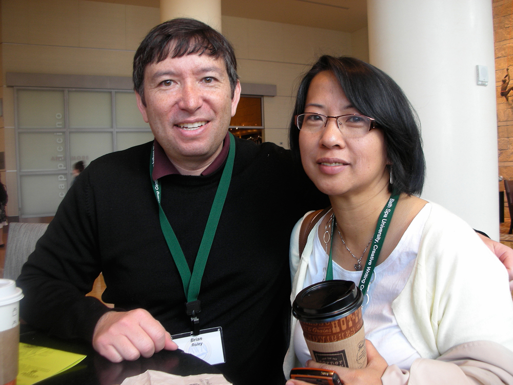 Writer Brian Ascalon Roley and poet Luisa Igloria  (Source; anthropologist.wordpress.com)