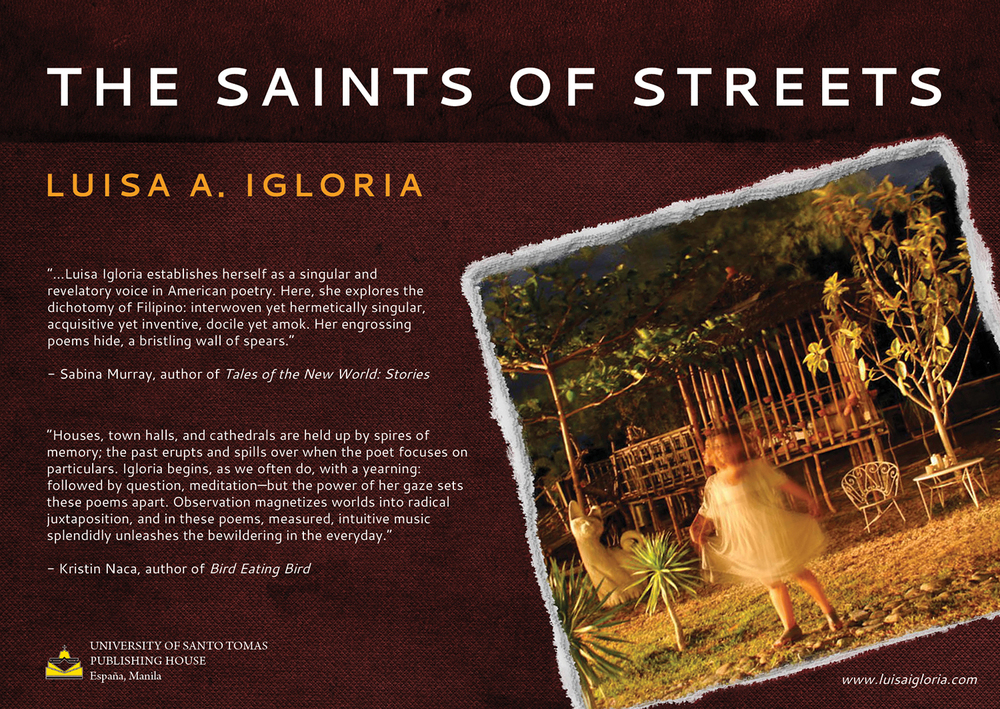 "Luisa Igloria's newest book ""The Saints of the Streets""  (Image courtesy of Luisa Igloria)"