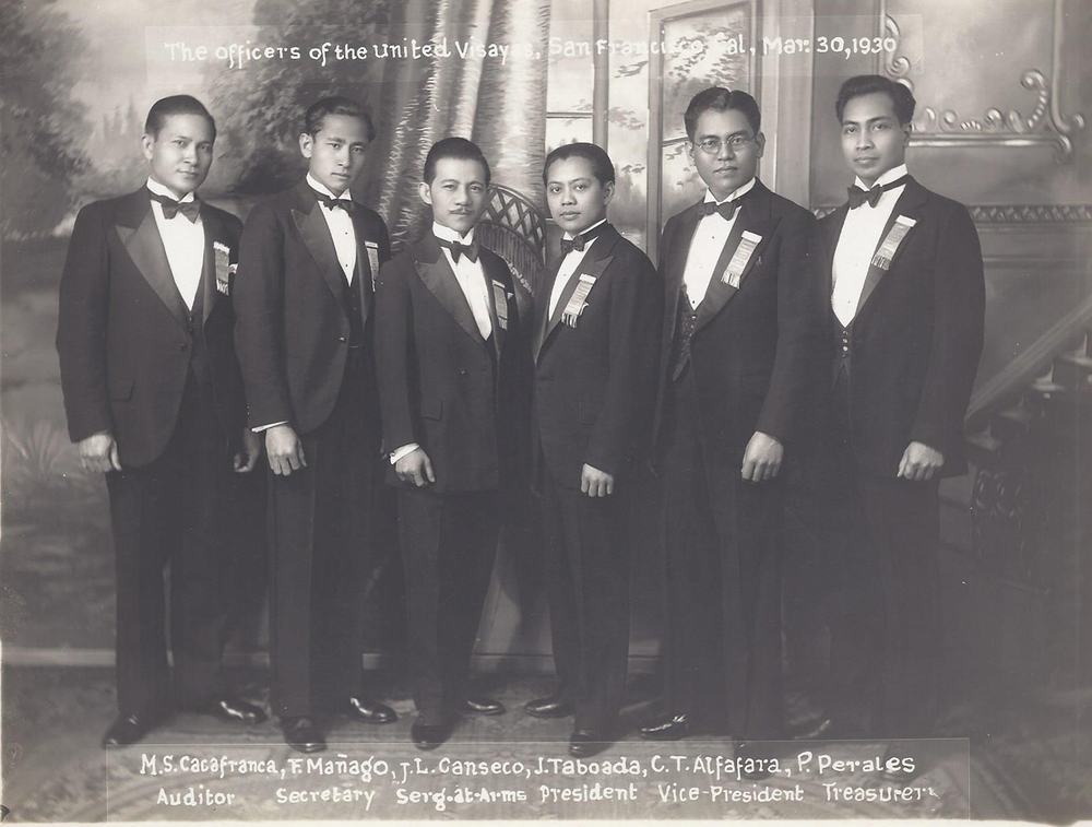 Alfafara (second from right) and the officers of United Visayas of San Francisco (Photo courtesy of Lisa Melnick)