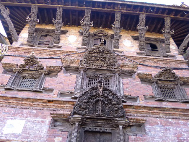 Intricately carved exterior of a grand dwelling in the heritage city of Bhaktapur  (Photo by Paulynn Sicam)