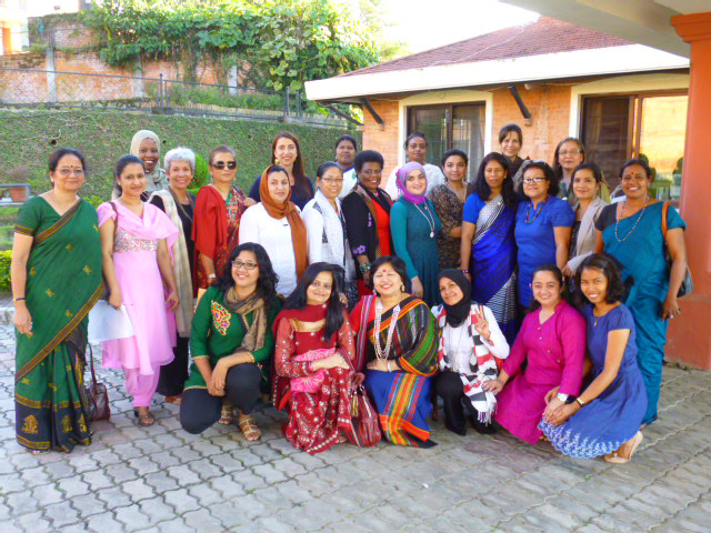 The participants at the workshop on Women in Mediation, Tewa Center in Kathmandu.  (Photo by Paulynn Sicam)