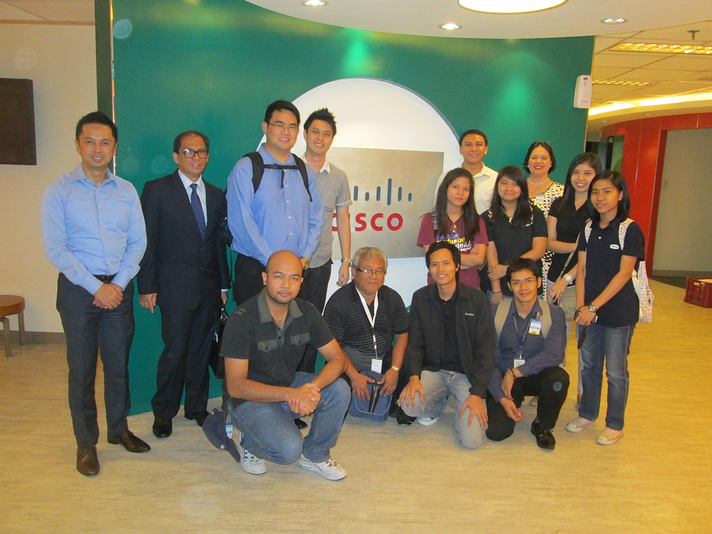 Members of IdeaSpace start-ups visit Cisco Philippines office. (Photo courtesy of Earl Valencia)