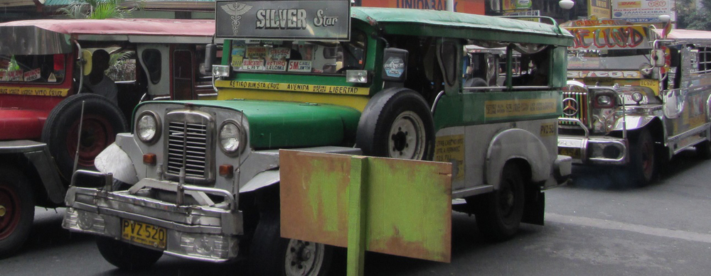 The jeepney, a popular mode of public transport in the Philippines  (Photo by Lisa Melnick)