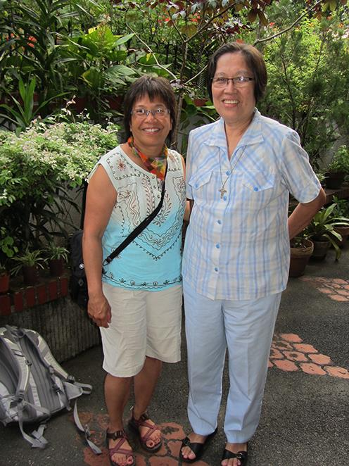 Lisa Melnick meeting up with Sister Rebecca of the Medical Mission Sisters  (Photo courtesy of Lisa Melnick)