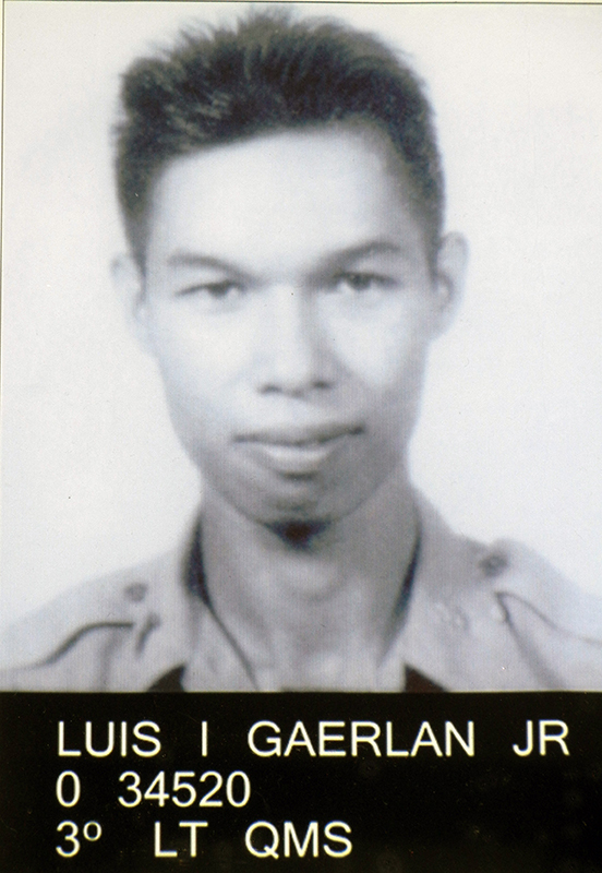 The author's father, Luis Gaerlan, Jr., of the 41st Infantry Regiment