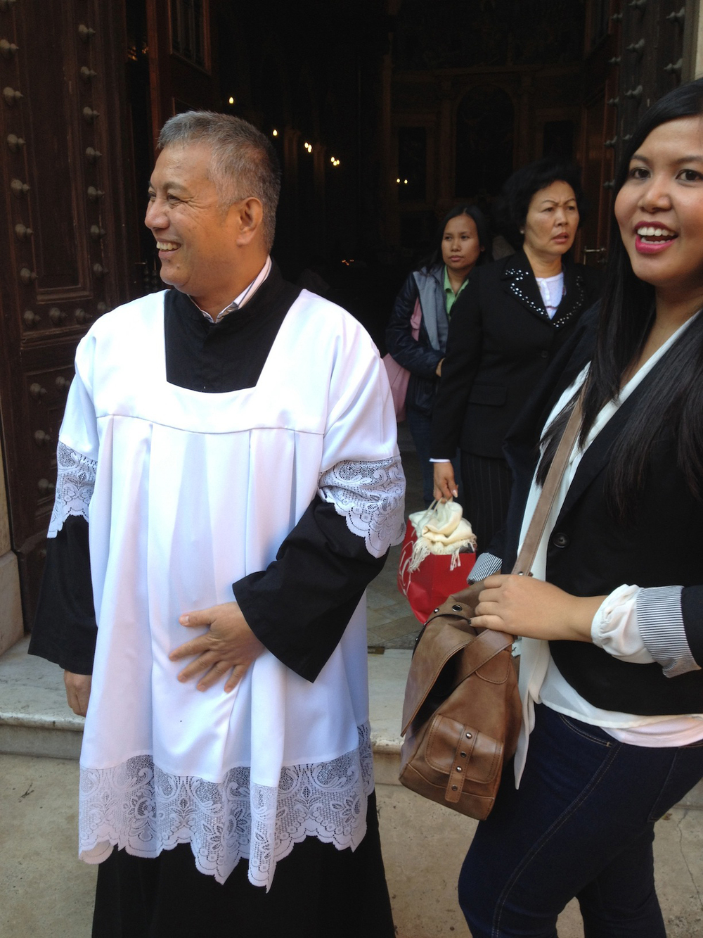 The parish priest of the church  (Photo by John Silva)