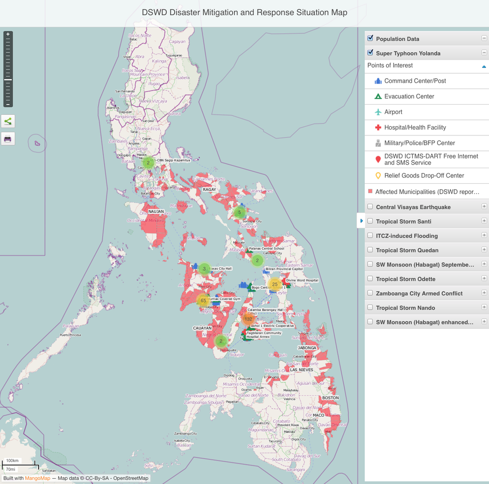 DSWD Disaster Mitigation and Response Situation Map (via http://www.quezon.ph – click image to view updated map)