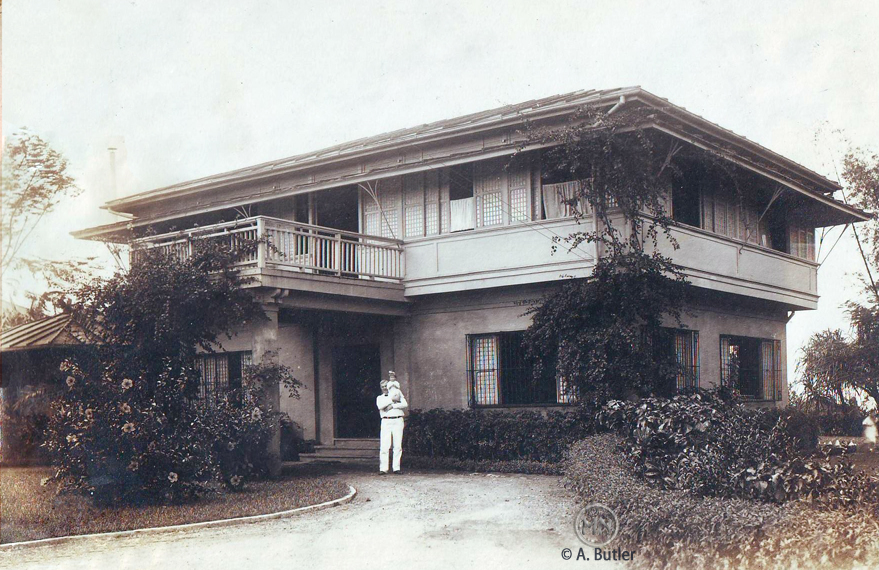 Cotterman home in Pasay with C.M. Cotterman  (Photo courtesy of Andy Butler)