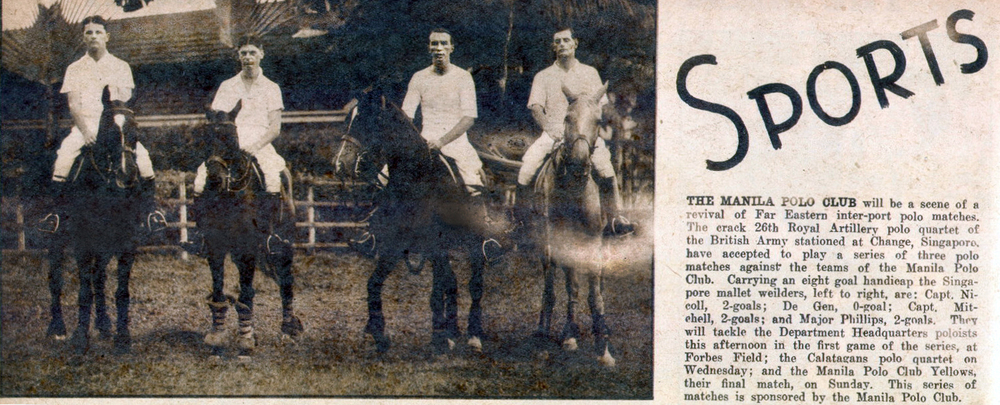 British riders at the Manila Polo Club