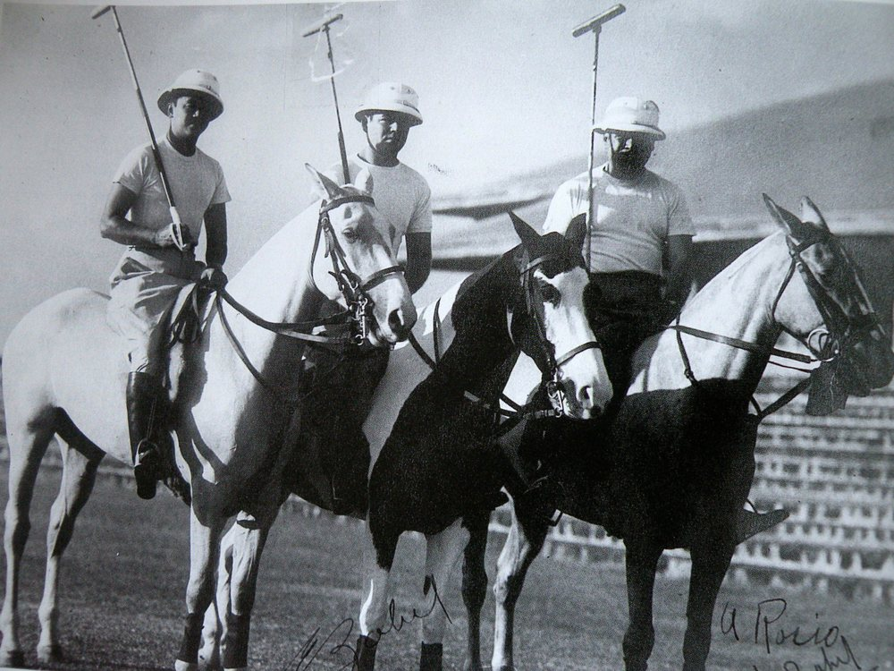 Dr. Oscar Jacinto, Enrique Zobel, and Jacobo Zobel, circa 1952