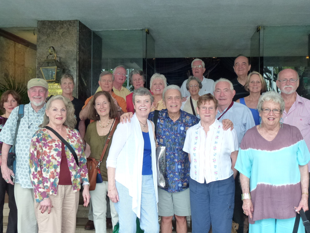The author (middle front row, in blue shirt) and his wife returned to Manila with a group of classmates from the American School.