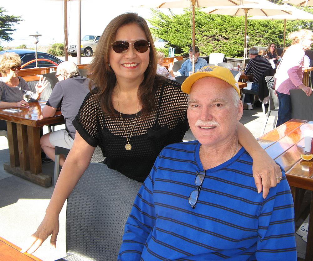 Cecilia Manguerra-Brainard and husband, Lauren, in Rio de Janeiro (Photo courtesy of Cecilia Manguerra-Brainard)