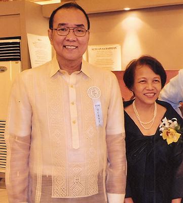 Marites Danguilan-Vitug with husband, Vet (Photo courtesy of Marites Vitug)